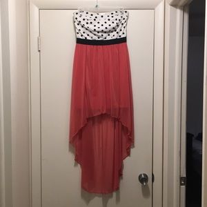 Dresses & Skirts - Strapless hi-lo dress